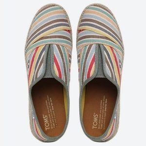Toms Palmera Multi Beach strip Slip-Ons Flat Shoes